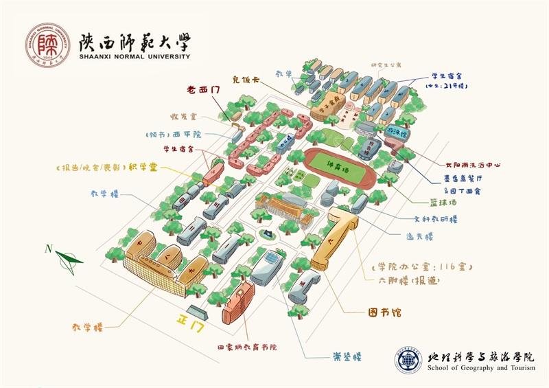 学院继续采用吴嘉美同学设计并手绘的校园手绘地图,成为学院新生人手